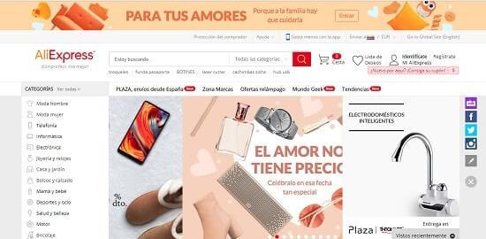 sitios web para comprar ropa Aliexpress