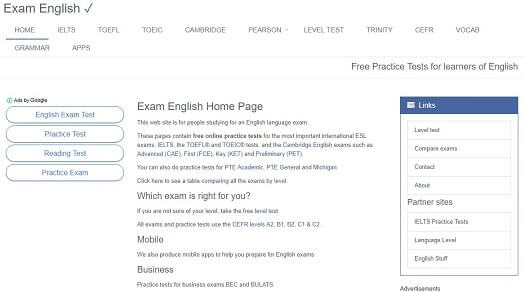 Exam english gratis