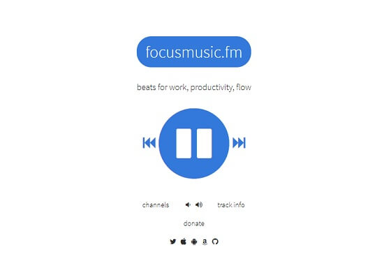 FocusMusic para concentrarse