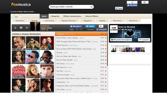 FoxMusica páginas oír música