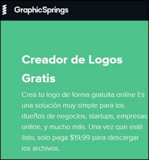 GraphicSprings web logos gratis en linea