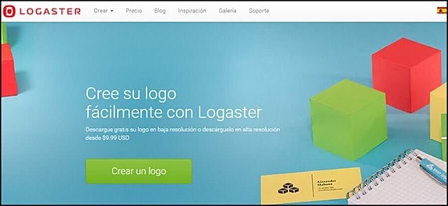 webs para hacer logos logaster