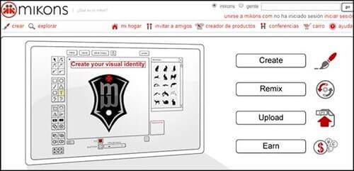 mikons gratis crear logos en linea