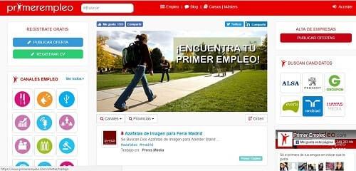 PrimerEmpleo portales de busqueda de empleo