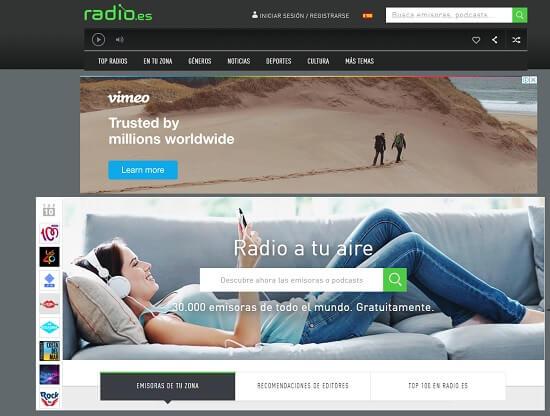 oír música online gratis con radio
