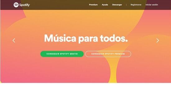 Spotify gratis webs para escuchar musica