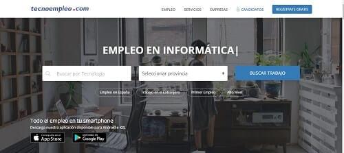 Tecnoempleo webs para buscar trabajo