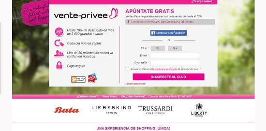 Vente-privee web