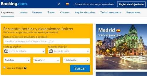 mejor web buscar hoteles booking