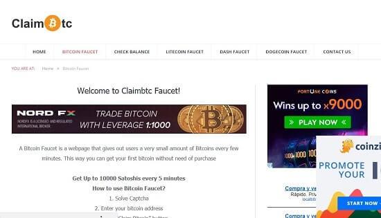 página claimbtc