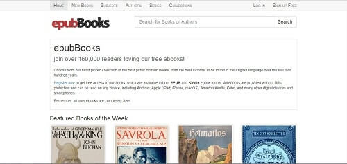descarga de libros gratis epubbooks