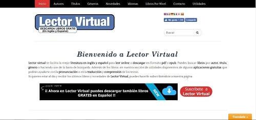 descargar libros epub gratis en español sin registrarse lector virtual