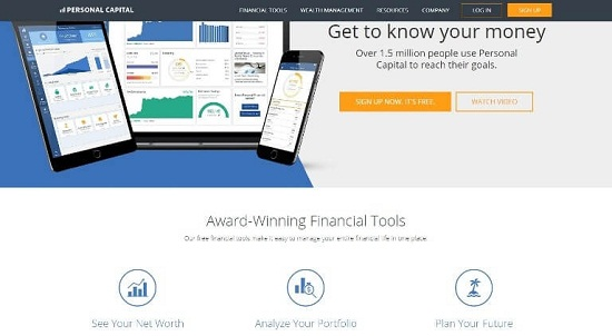 personal capital páginas de inversión