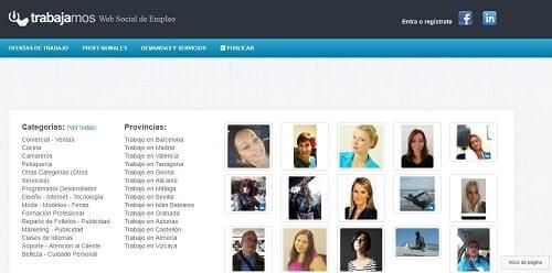 trabajamos.net listado de paginas para encontrar empleo