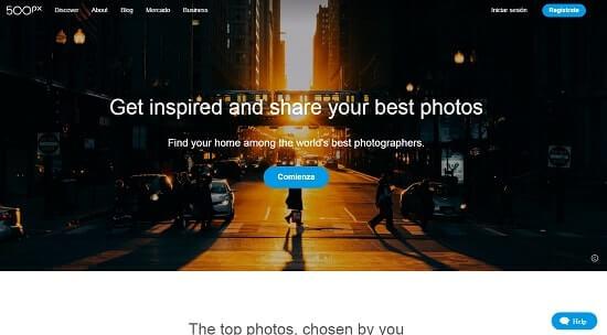 500px fotografia online
