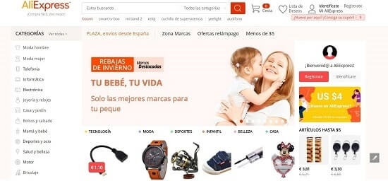 AliExpress tiendas de internet