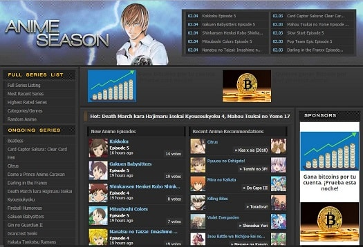 Anime Season donde ver anime gratis en ingles