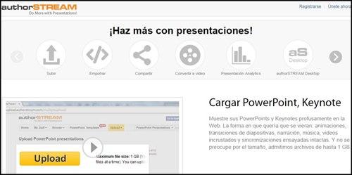 AuthorStream. Páginas para presentaciones