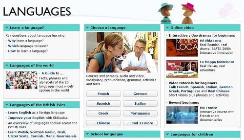 Cours de langue en ligne gratuit BBC Languages