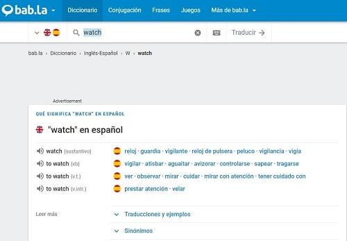 bab.la diccionario traductor