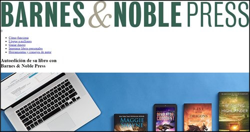 Barnes y Noble Press. Escribir libros on line