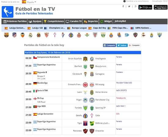 fútbol en la televisión gratis en streamming