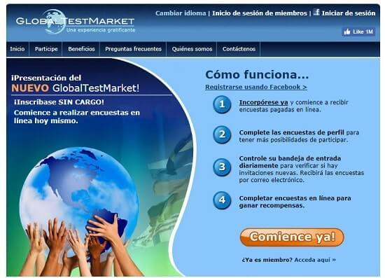 Global Test Market portal