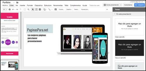 Google Presentaciones. Crear presentaciones online