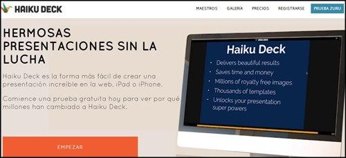 Haiku Deck. Paginas para crear presentaciones online