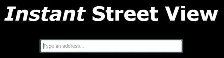 Instant Street View. Mejores páginas para perder el tiempo
