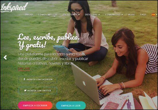 Inkspired. Redes sociales para escritores