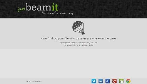JustBeamIt donde subir archivos