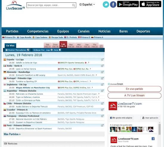 Livesoccertv ver canal + deportes gratis
