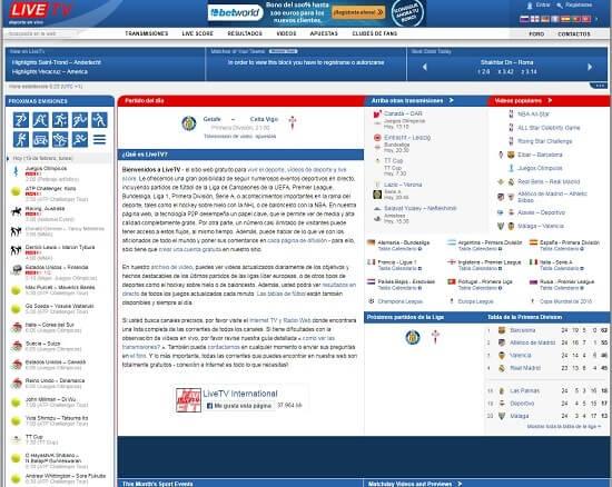 LiveTV soccer online