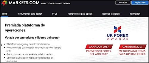 Markets.com paginas donde invertir para ganar dinero