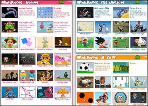 Mini juegos juegos para niños