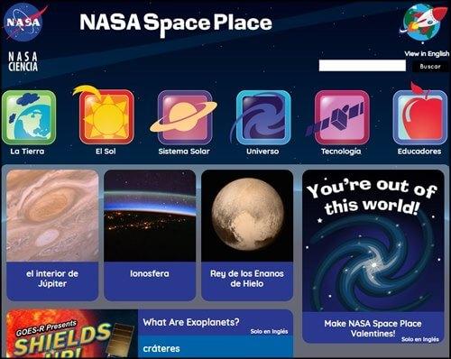NASA para niños