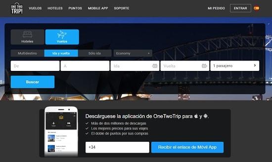 OneTwoTrip Comparador de vuelos baratos