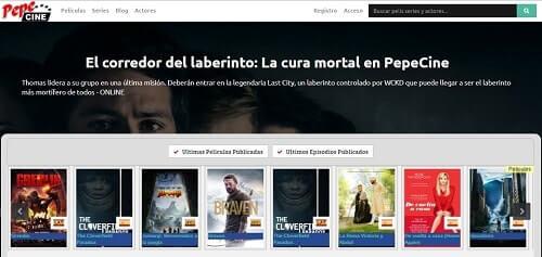 PepeCine plataformas para ver series online gratis
