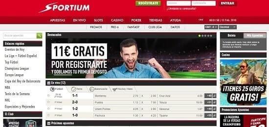 Sportium casas de apuestas online