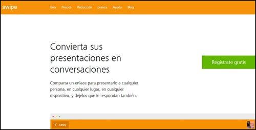 Swipe. Paginas para hacer presentaciones web