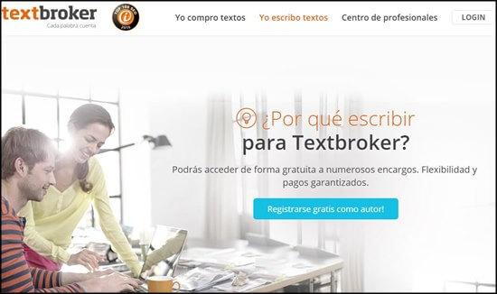 Textbroker. Paginas para publicar relatos