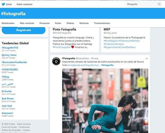 Twitter fotografos online sitios web