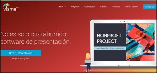 Visme. Programas para hacer presentaciones online