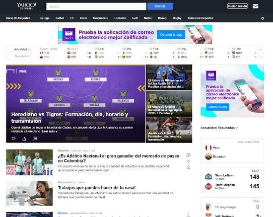 Yahoo Deportes online