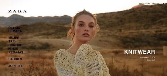 Zara paginas de compras