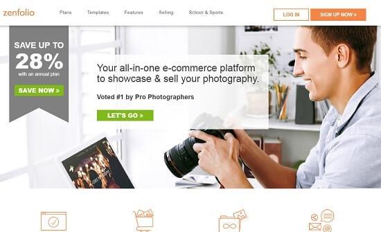 Zenfolio páginas para fotografos