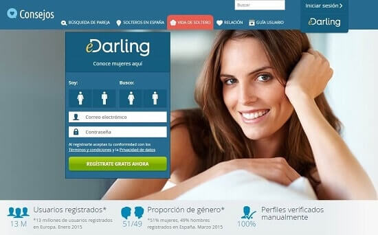 eDarling encontrar chicas por internet