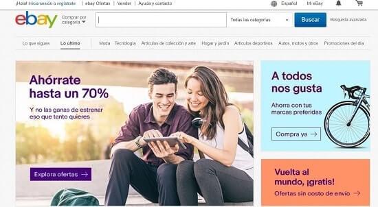 ebay sitios de ventas por internet
