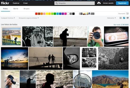 flickr paginas para fotografos
